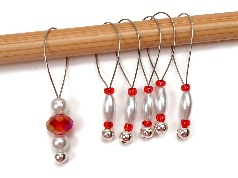 Knitting Markers Diy : Knitting stitch markers set snag free diy supplies