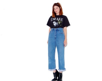 adorable high waisted jeans small medium // vintage mom jeans ripped jeans boyfriend jeans distressed jeans cropped jeans