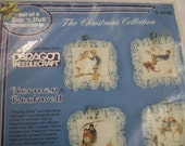 Christmas Ornaments Kit by Paragon, The Christmas Collection, Norman Rockwell, Makes 6 Ornaments, Snip n Stuff ornaments