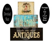 Friends Blocks Printable Sheet For Decoupage , Chunky Wood , DIY , Primitive Vintage , Instant Download ,  Stackable , 2 X 4 , Painting