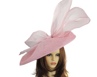 Candy Pink Barn Owl Fascinator Hatinator Hat for Kentucky Derby, Weddings on a Headband (20 colours available)