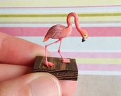 Felicia The Fabulous Flamingo Miniature Ornament
