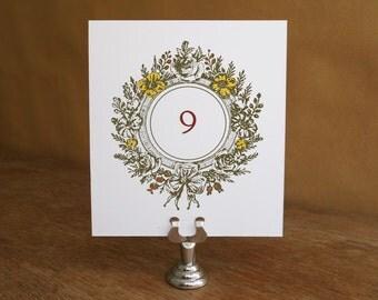 Printable Table Number - Monogram