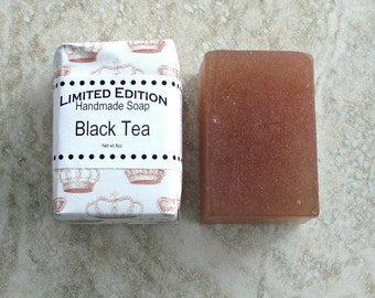 Black Tea Handmade Soap, Gentle soap recipe, Rich Tea fragrance, Brown soap