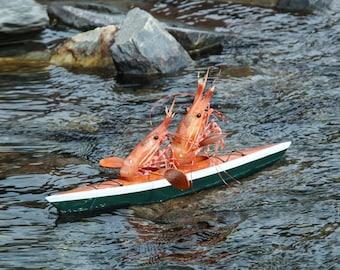 Kayaking Shrimp Card by Shrimp Whisperer AK