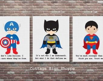 Superhero,Superhero Sign,Superhero Decor, DIGITAL, YOU PRINT,  Superhero Art,Superhero Quotes,Captain American Art, Batman Art, Superman Art
