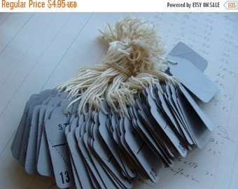 20PercentOff Vintage String Tags One Dozen Vintage Gorgeous French Blue Color Farmhouse Decor