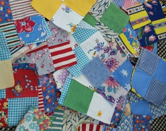 100+ piece cotton fabric quilt squares