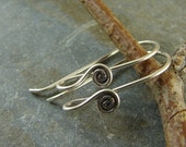 Fine Silver Spiral Ear Wires - Hill Tribe Fine Silver findings - Artisan Silver Findings - htfsews