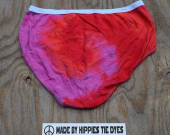 Be Lovely Tie Dye Women's Underwear (Hanes Women's Regular Briefs Size 9) (One of a Kind)