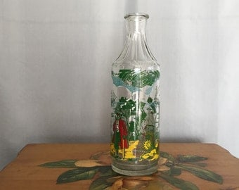Treasure Island Bottle Vintage Glass Vase Captain Hook Pirate Ship