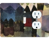 Paul Klee Föhn in Marc's Garden Painting Toggle Switch and Duplex Outlet Double Plate Cover