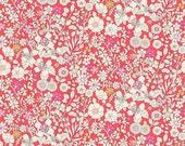 Liberty Tana Lawn Fabric June's Meadow E Half Yard Multi Floral Red White- * PRE-ORDER *