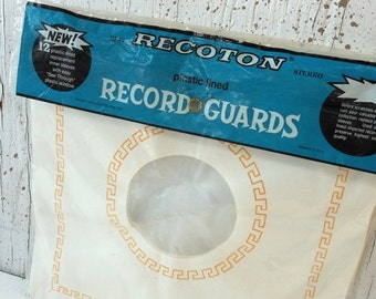 Vintage Record Album Replacement Sleeve Covers Plastic Lined Guards Retro Hi Fi Original Package PeachyChicBoutique on Etsy