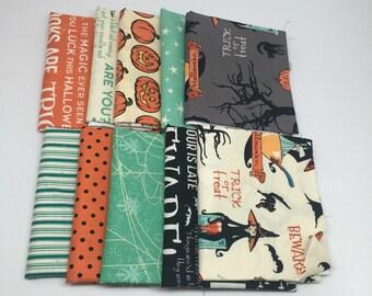CHRISTMAS IN JULY Sale - Fat Quarter Bundle (10) Witch Hazel - October Afternoon for Riley Blake Designs