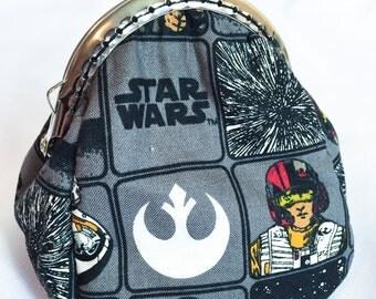 Star Wars Force Awakens Metal Frame Coin Purse Custom