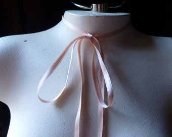3 YDS  PEACH Satin Ribbon COTTON 6mm wide Double Face for Bridal, Boutonniers, Garters, Millinery, Floral Design R1pch