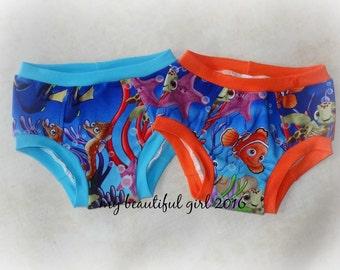 Swimming Friends Childrens Underwear - You Choose Size