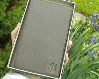 Brown Leather UPS Logo Wallet - Bifold - Vintage United Parcel Service Mens Wallet
