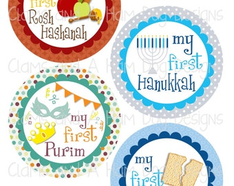 Babies First Hanukkah Clip Art