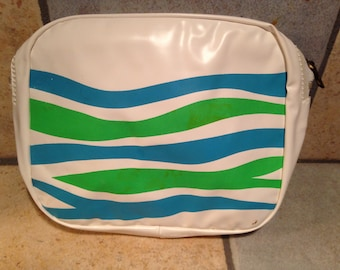 Blue and Green Wave Cosmetic Bag