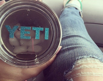 Yeti decal for lid/Custom. 20 oz./Choices!