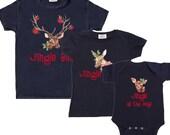 Family Christmas Shirts Mom Dad Baby combo Christmas Tee Shirts 1st Christmas Shirts Woodland Christmas Tee's