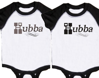 Funny Twin Boys Rompers Baby Twin Boys Black Romper Retro Boy Bodysuits by Mumsy Goose Newborn Romper to Kids Tshirts