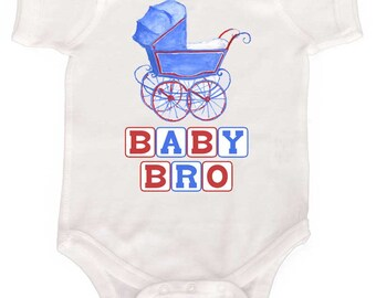 Little Baby Brother Romper infant boy tricycle shirts by Mumsy Goose Newborn to Toddler Tshirts