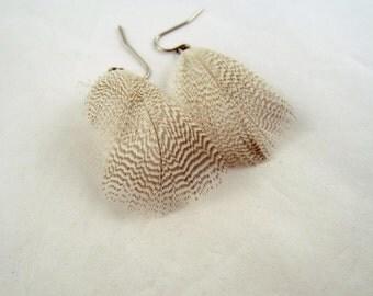 Feather Earrings natural mallard cruelty free