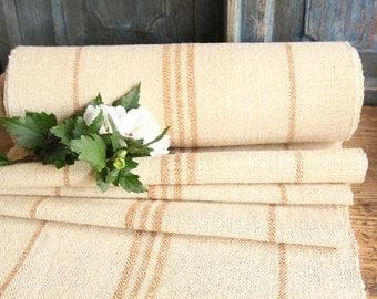 R 399 antique hemp linen MUSTARD upholstery 11.25yards handloomed benchcushion Beachhouse look
