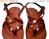 20% OFF Brown Mix Leather Sandals for Men & Women