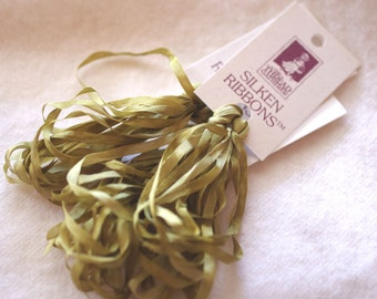Silken Ribbons 4mm by The ThreadGatherer. SR4 237 Olive Branch.