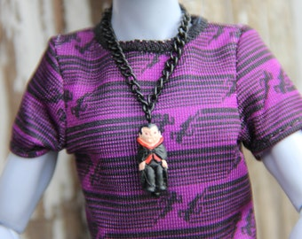 Dracula Vampire Gothic Doll Jewelry Necklace fits Male Petite Slimline Monster Fairytale 1/6th Scale 12 inch Boy Guy Fashion Dolls