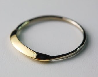 14KT Solid Gold Ring Handcrafted by Philip Crow - Unique, One of a kind Gifts - Exquisite Jewelry