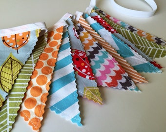 Bunting Banner, Fall Fabric Banner, Fall Carnival Banner