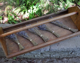 Vintage Wood Flower Berries Herbs Harvesting Tray Tote/Dried Herbs Flowers Display