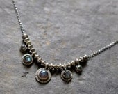 xX RESERVED Xx Sterling Labradorite Necklace, Metalwork Gemstone Charm Necklace -  Rustic Charm Necklace in Labradorite