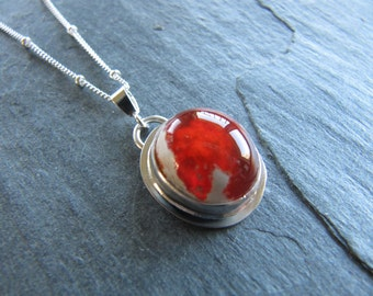 RESERVED. Mexican Opal Pendant in Sterling Siver