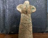 Artisan made amuletic ceramic seal pendant -OOAK
