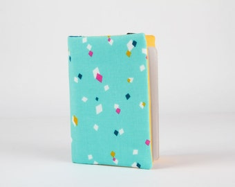 Fabric card holder - Dance blue / Cotton Candy / Dashwood studio / Mustard yellow pink navy blue turquoise white