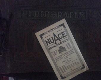 Nuace Mounting Corners 100 White Circa 1920 Made in U.S.A.