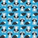 1/2 Yard of Racoons by Ed Emberly Organic Cotton Fabric for Cloud 9 Fabrics