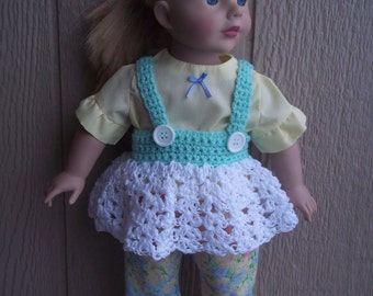 """Spring Meadow sundress set for any 18"""" doll"""