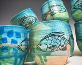 Fish Tea Cup: Tropical Fish Juice cup
