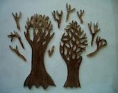 TR11 - 2 pcs TREE TRUNKS w-Branches - Mosaic Ceramic Tiles