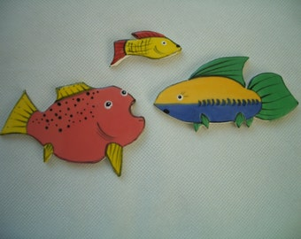 3F - CUTE FISH Trio - Ceramic Mosaic Tiles
