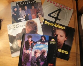 Vintage 45rpm Records from the 80's