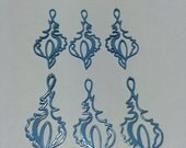 6 pcs vintage enamel blue shell charm pendant destash