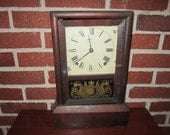 Antique Seth Thomas Eight Day Spring Clock for Repair or Assemblage